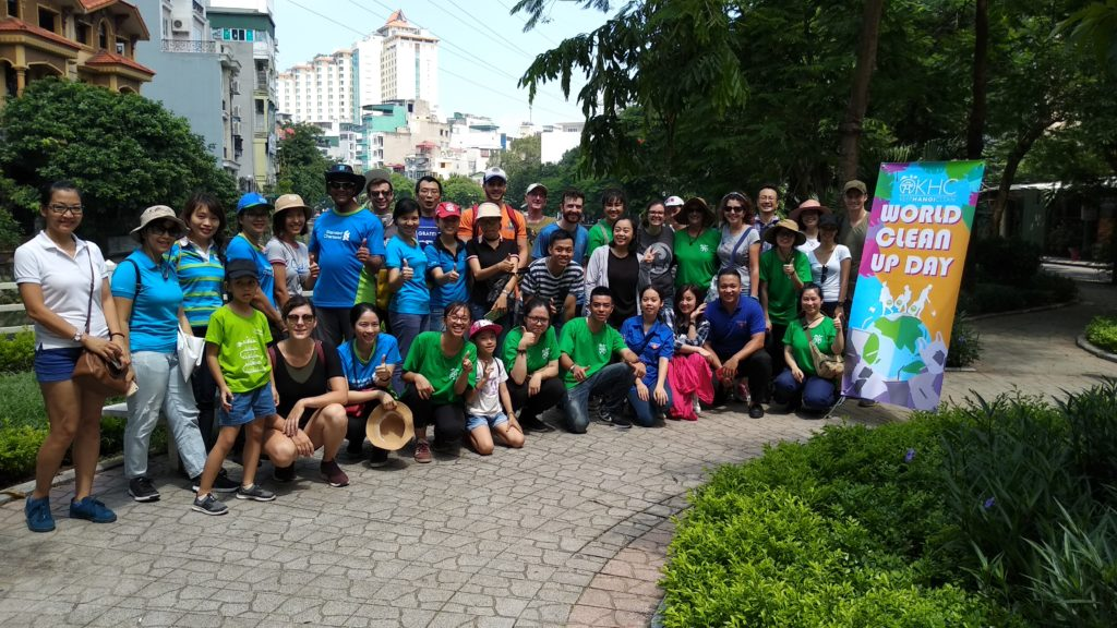 Keep Hanoi Clean - World Cleanup Day 2018 Supporters